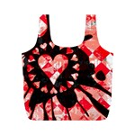 Love Heart Splatter Full Print Recycle Bag (M)