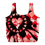 Love Heart Splatter Full Print Recycle Bag (L)