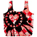 Love Heart Splatter Full Print Recycle Bag (XL)