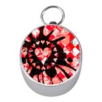 Love Heart Splatter Silver Compass (Mini)