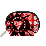 Love Heart Splatter Accessory Pouch (Small)