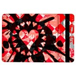 Love Heart Splatter Apple iPad Air Flip Case