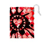 Love Heart Splatter Drawstring Pouch (Large)