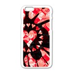 Love Heart Splatter iPhone 6/6S White Enamel Case