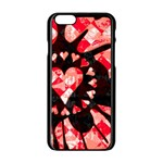 Love Heart Splatter iPhone 6/6S Black Enamel Case