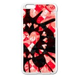 Love Heart Splatter iPhone 6 Plus/6S Plus Enamel White Case