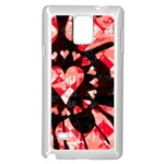 Love Heart Splatter Samsung Galaxy Note 4 Case (White)