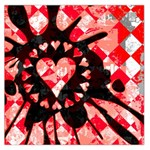 Love Heart Splatter Large Satin Scarf (Square)