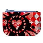 Love Heart Splatter Large Coin Purse