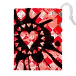 Love Heart Splatter Drawstring Pouch (XXL)
