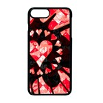 Love Heart Splatter iPhone 7 Plus Seamless Case (Black)