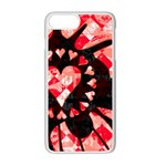 Love Heart Splatter iPhone 7 Plus Seamless Case (White)