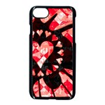 Love Heart Splatter iPhone 7 Seamless Case (Black)