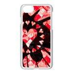 Love Heart Splatter iPhone 7 Seamless Case (White)