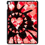 Love Heart Splatter Apple iPad Pro 9.7   Black Seamless Case
