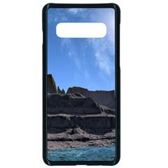 Mountains Galaxy Lake Landscape Samsung Galaxy S10 Seamless Case(black) by Simbadda