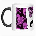 Pink Polka Dot Bow Skull Morph Mug