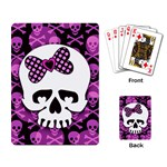 Pink Polka Dot Bow Skull Playing Cards Single Design (Rectangle)