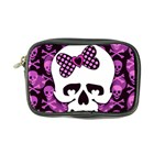 Pink Polka Dot Bow Skull Coin Purse