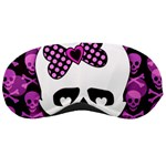 Pink Polka Dot Bow Skull Sleeping Mask