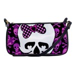 Pink Polka Dot Bow Skull Shoulder Clutch Bag
