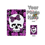 Pink Polka Dot Bow Skull Playing Cards 54 Designs (Mini)