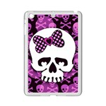 Pink Polka Dot Bow Skull Apple iPad Mini 2 Case (White)