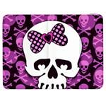 Pink Polka Dot Bow Skull Samsung Galaxy Tab 7  P1000 Flip Case