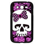 Pink Polka Dot Bow Skull Samsung Galaxy Grand DUOS I9082 Case (Black)