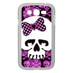 Pink Polka Dot Bow Skull Samsung Galaxy Grand DUOS I9082 Case (White)