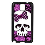 Pink Polka Dot Bow Skull Samsung Galaxy Note 3 N9005 Case (Black)
