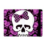 Pink Polka Dot Bow Skull Apple iPad Mini 2 Flip Case