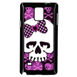 Pink Polka Dot Bow Skull Samsung Galaxy Note 4 Case (Black)