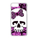 Pink Polka Dot Bow Skull iPhone 7 Plus Seamless Case (White)