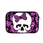 Pink Polka Dot Bow Skull Apple MacBook Pro 13  Zipper Case