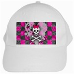 Princess Skull Heart White Cap