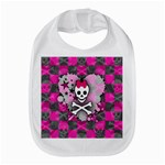 Princess Skull Heart Bib