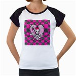Princess Skull Heart Women s Cap Sleeve T