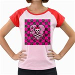 Princess Skull Heart Women s Cap Sleeve T-Shirt