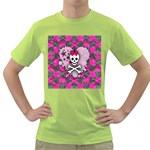 Princess Skull Heart Green T-Shirt