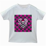 Princess Skull Heart Kids  White T-Shirt