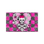 Princess Skull Heart Sticker Rectangular (100 pack)