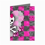Princess Skull Heart Mini Greeting Card