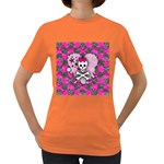 Princess Skull Heart Women s Dark T-Shirt