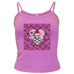 Princess Skull Heart Dark Spaghetti Tank