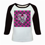 Princess Skull Heart Kids  Baseball Jersey