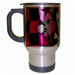 Princess Skull Heart Travel Mug (Silver Gray)