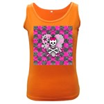 Princess Skull Heart Women s Dark Tank Top