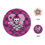 Princess Skull Heart Playing Cards Single Design (Round)