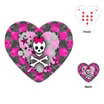 Princess Skull Heart Playing Cards Single Design (Heart)